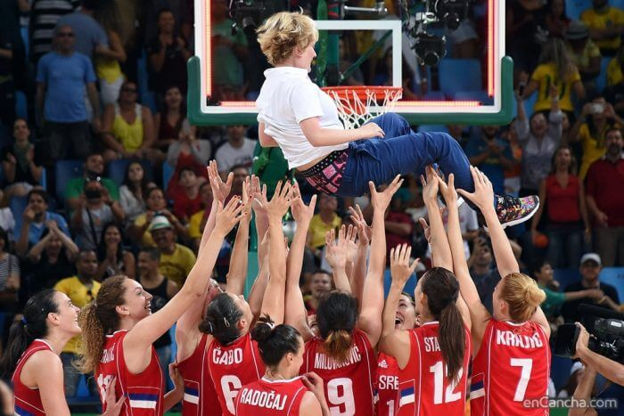 Marina Maljkovic Bronze Medal Olympics Celebration