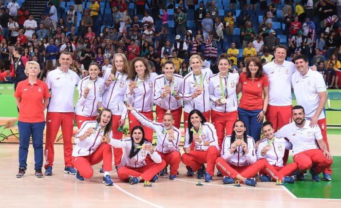 Serbia Basketball National Team Bronze Olympic Games